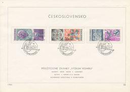 Czechoslovakia / First Day Sheet (1966/22) Praha (1): Space Exploration (painter: J. Lukavsky)