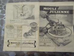 Notice Mouli Julienne - Bagnolet Seine - Moulin Légume - Old Paper