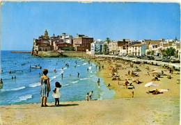 ESPAÑA  SPAGNA  CATALUÑA  SITGES  Playa De San Sebastian - Vari