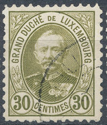 Stamp  Luxembourg 1891  30c Used Lot#77 - 1859-1880 Armoiries