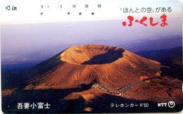 Telefonkarte Japan - Landschaft - Vulkan - Vulcani