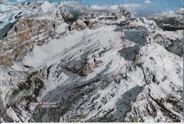 VENETO - MONTE LAGAZUOI PISTA ARMENTAROLA - ED GHEDINA - TIMBRO RIFUGIO - VIAGGIATA 1986 - Alpinisme