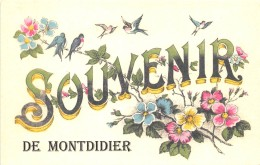 80 - SOMME / Fantaisie Moderne - CPM - Format 9 X 14 Cm - MONTDIDIER - Autres Communes