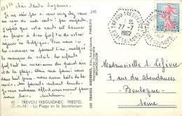 PIE-17-F.805 : CARTE POSTALE TREVOU-TREGUINEC . COTES DU NORD. CACHET HEXAGONAL.  27 07 1962 - Curiosidades: 1960-69 Cartas