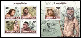 NIGER 2013 - Prehistory - YT 2058-61 + BF221; CV = 31 € - Prehistorie