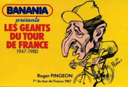 "CYCLISME  ""  /  PINGEON    TDF 1981   ILLUSTRE PAR PELLOS / BANANIA      ""  CPSM / CPM  10 X 15   TTBE - Pellos"