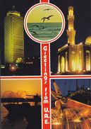 United Arab Emirates PPC Greetings From U.A.E. Abu Dhabi, Dubai (2 Scans) - Ver. Arab. Emirate