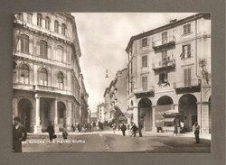 CARTOLINA SAVONA VIA PIETRO GIURIA  - POSTCARD NON VIAGGIATA  - ANIMATA - Savona