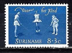 SURINAM 400**  8c + 3c Bleu  Saut à La Corde - Surinam
