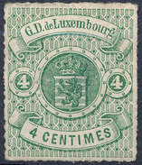 Stamp  Luxembourg 1865 4c Mint Lot#55 - 1859-1880 Armoiries