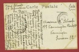 Ste Adresse Carte Postale En S M  Vers Kensington  Londen Correspondance Privée Armée Belge - Weltkrieg 1914-18