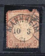 REICH51) 1872 - AQUILA Scudo Grande -Unif 24 USED - Usati
