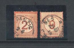 REICH52) 1874 - Cifra Sovrastampata Su Aquila Serie Cpl 2val. -UNIF. 28-29 - Germania