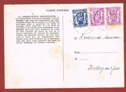 Dienstkaart Met Spoorzegels Waremme 14/9/1950 2 Scan - Railway