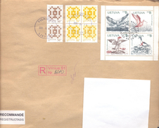 2000. Lithuania, The Letter Sent By Registered Post To Moldova