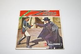 """VIEW-MASTER Vintage Reels : GAF - Zorro """"Walt Disney"""" - Original 1958 - Reels - Viewmaster - Stereoviewer - Stereoscoopen"""