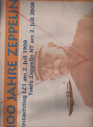 Centenaire Du Premier Vol Zeppelin , Journal Du 2 Juillet 2000 , Page Hindenburg Et Autres Graf Zeppelin , Nt - Automobile & Transport