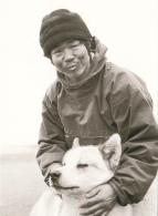 Greenland Postcard Naomi Uemura - Japanese Explorer With Husky - Célébrités