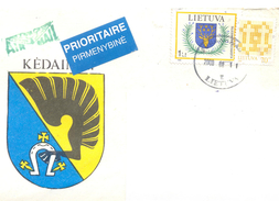 2000. Lithuania, The Letter Sent By Ordinary Post To Moldova