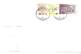 2001. Lithuania, The Letter Sent By Ordinary Post To Moldova - Lithuania