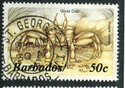 Barbados 1986 50 Cent Crab Issue #651 Used - Barbados (1966-...)
