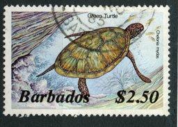 Barbados 1986  $2.50 Turtle Issue #657  Used - Barbados (1966-...)