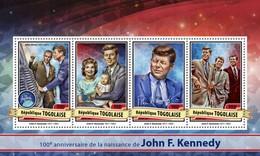 Togo. 2017 John F. Kennedy. (117a)