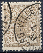 Stamp  Luxembourg 1880 20c Used Lot#152 - 1859-1880 Armoiries