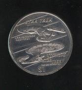 1 Dollar Libéria 1996 Star Trek - USS-Enterprise - Liberia