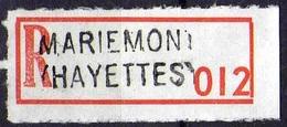Vignette Recommandé Mariemont Hayettes - Documents De La Poste