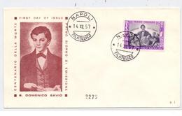 ITALIA, 1957, Unificato 824, Savio - FDC