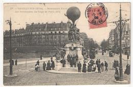 92 - NEUILLY-SUR-SEINE - Monument élevé Aux Aéronautes Du Siège De Paris 1871 - Marmuse 27 - 1906 - Tramway - Neuilly Sur Seine