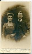Photo CDV J.B. BONNOT Montluçon (Allier) Jeune Couple - Anciennes (Av. 1900)