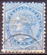 NEW ZEALAND 1874-78 SG 156 6d Used White Paper Perf. 12½ CV £12 - 1855-1907 Crown Colony
