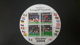 GIBRALTAR 2004 EUROPEAN Europe Cup Football Soccer UEFA Tribute (~FACE VALUE) MNH ** - Gibraltar