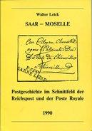 VR 504  Saar  - Moselle Postgeschichte Im Schnittfeld Des Reichpost Und Der Poste Royale - Catalogues