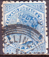 NEW ZEALAND 1893 SG 225 8d Used Perf. 10 CV £70 Traces Of Advert. - 1855-1907 Crown Colony