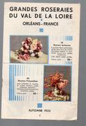 (Orléans) Catalogue Grandes Roseraies Du Val De Loire Automne 1933  ( CAT 181) - Agriculture