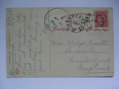 1911 POSTCARD WITH HYDE SKELETON POSTMARK ON NORWAY HAMMERFEST - 1902-1951 (Könige)