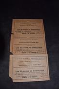 3 Tickets Représentation De Grand Gala Salle Du Kursaal Fleurus 1925 - Tickets - Vouchers