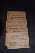 3 Tickets Représentation De Grand Gala Salle Du Kursaal Fleurus 1925 - Tickets D'entrée