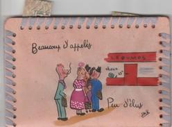 Porte Tickets De Rationnement Et Tickets  Lait, Pommes De Terre, Fromage Cachets Violets Au Verso - 1939-45