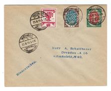 Ganzsachen-Privatumschlag Borek-Katalog Nr. 44 Mit Zusatzfrankatur MiNr. 107+108, SSt. Nationalversammlung WEIMAR - Brieven En Documenten