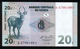Kongo - Congo 1997, 20 Centimes Cent - UNC - Kongo