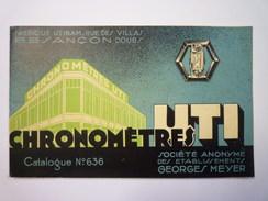 """CATALOGUE  PUB  CHRONOMETRES  """"UTI""""  Besançon  (48 Pages  -  Format 22 X 13,5cm)   - Unclassified"""