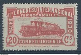 ES482FSFT-LFT***482FTEVA.España.Spa In.Espagne.TREN. Locomotora COCODRILO.CONGRESO  DE.FERROCARRILES.1930  (Ed 482F**) - Variedades & Curiosidades