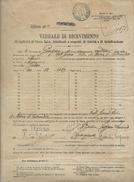 PONTREMOLI  Lineare + PONTREMOLI (MASSA CARRARA) SU VERBALE BIGLIETTI DI STATO FALSI FALSIFICATI O SOSPETTI (mod. 19-T) - Historical Documents