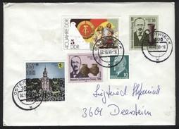 DDR  Brief 3606 Osterwieck Nach 3601 Deersheim OrtsSt 2.10.1990 A. MiF Mi 3364, 3365, 3315, 3279, 846 - Covers