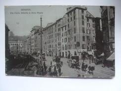 ITALY - Genova - Via Carlo Alberto E Arco Reale - 1910`s - Genova (Genoa)