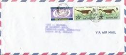 St Vincent 1975 Kingstown UPU Bare-eyed Thrush Bird Cover - St.Vincent (1979-...)